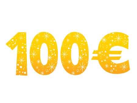 100 Euro sign icon symbol