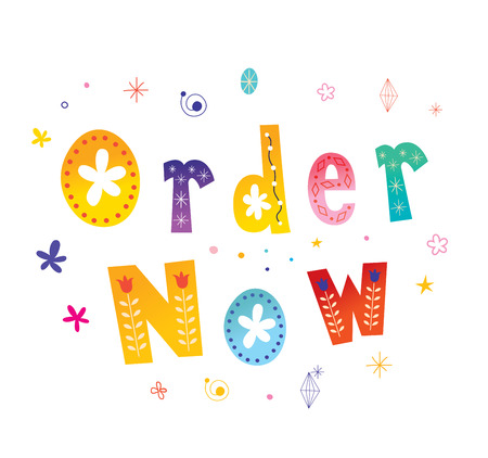 order now web button Banco de Imagens - 97750848