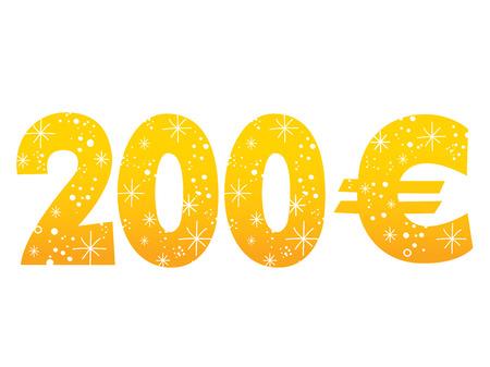 200 ユーロ記号アイコン記号 写真素材 - 97750852