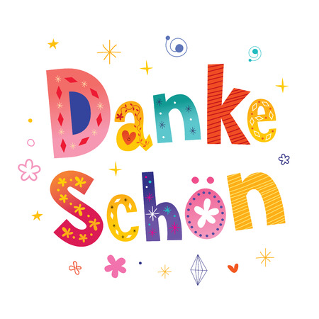 Danke schon - Thank you very much in German Stok Fotoğraf - 97900878