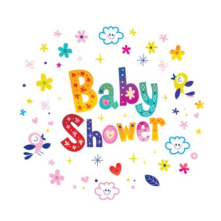 Baby Shower card Standard-Bild - 104200807