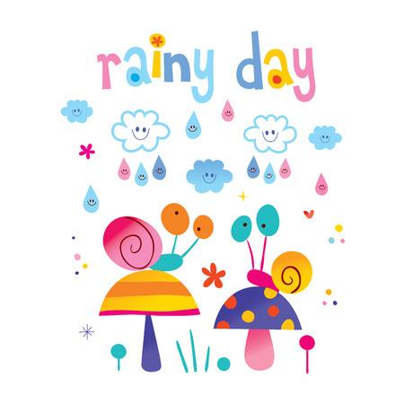 rainy day Stock Illustratie