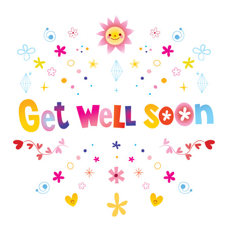 Get well soon illustration background.