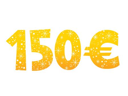 150 euros sign