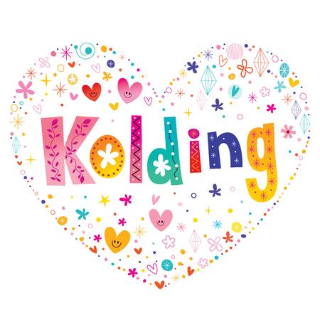 Kolding - city in Denmark Иллюстрация