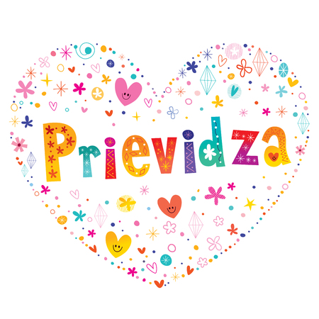 Prievidza - city in Slovakia 일러스트