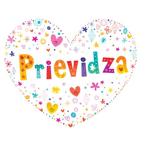 Prievidza - city in Slovakia Illustration