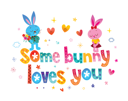 Some bunny loves you Stock fotó - 115944788
