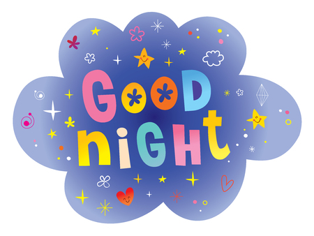 Good night lettering design