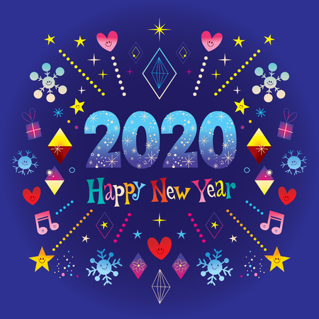 Happy New Year 2020 greeting card Imagens - 118424453