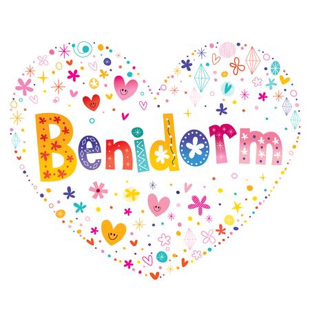 Benidorm - city in Spain Ilustração