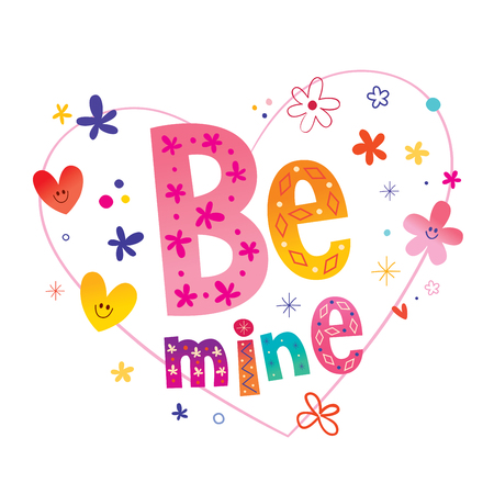 Be mine romantic love card Banco de Imagens - 120477603