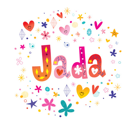 Jada female name decorative lettering type design