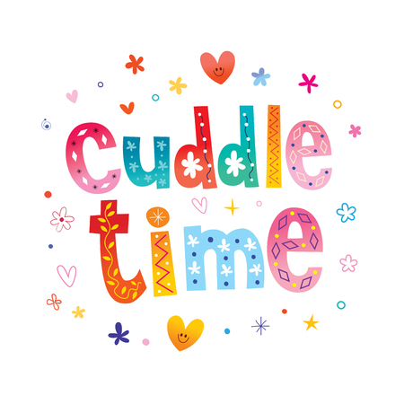 cuddle time Stock Illustratie