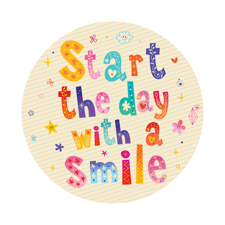 Start the day with a smile motivational design