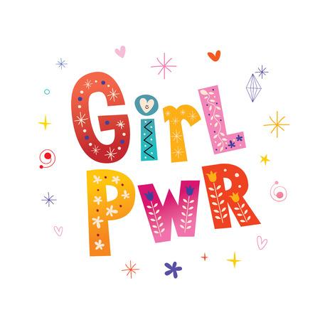 Girl power - t shirt design