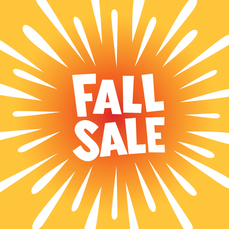 FALL SALE banner poster with burst explosion