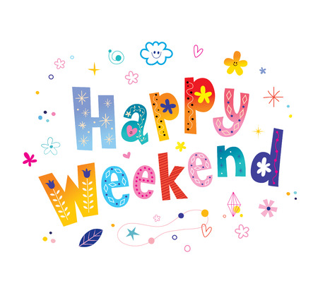 Happy weekend card Banque d'images - 120478891