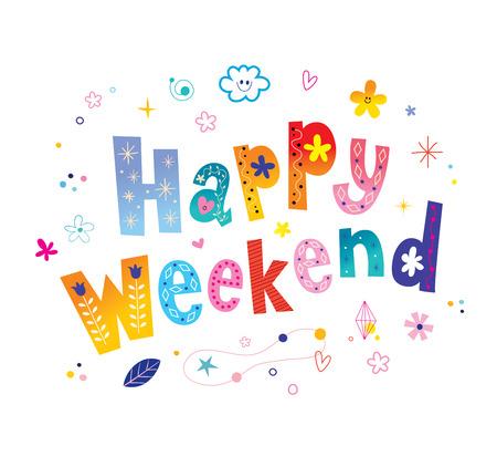 Happy weekend card