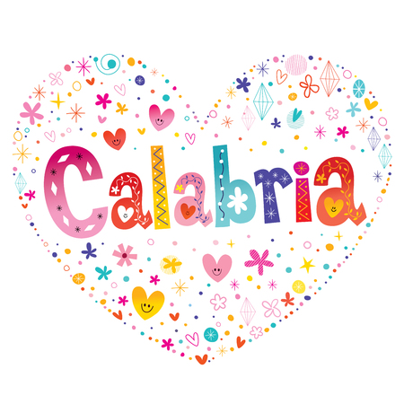 Calabria - a region in Southern Italy - heart shaped design