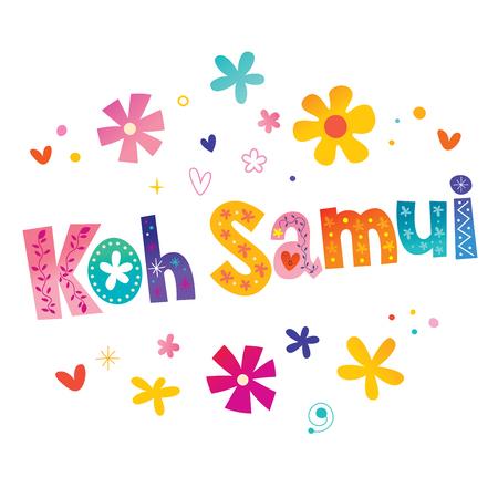 Koh Samui - island in Thailand  イラスト・ベクター素材