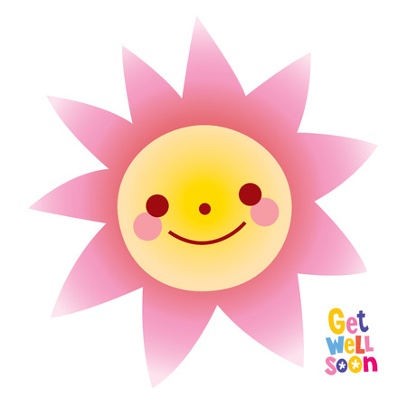 Get well soon greeting card Stock Vector - 120478974