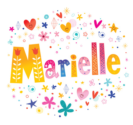 Marielle - French female name 写真素材 - 120479456