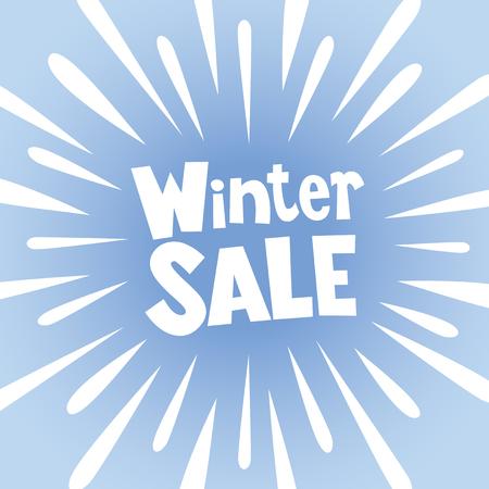 Winter SALE banner poster with burst explosion Illustration