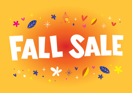 FALL SALE banner poster  イラスト・ベクター素材