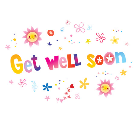 Get well soon greeting card Stock Vector - 120787131