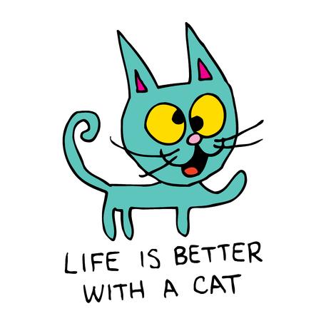 La vie est meilleure avec un chat