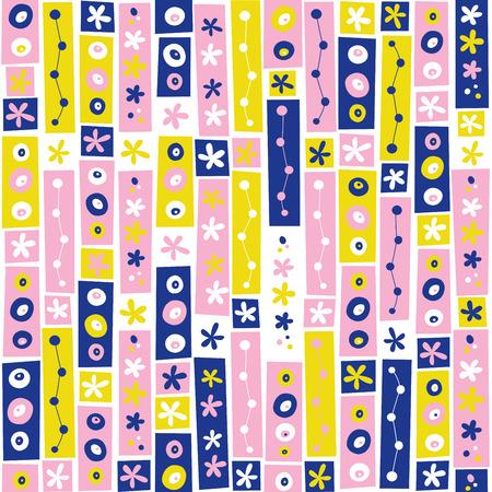 flowers collage seamless pattern 向量圖像