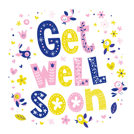 get well soon card 일러스트