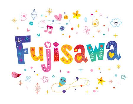 Fujisawa city in Japan lettering design