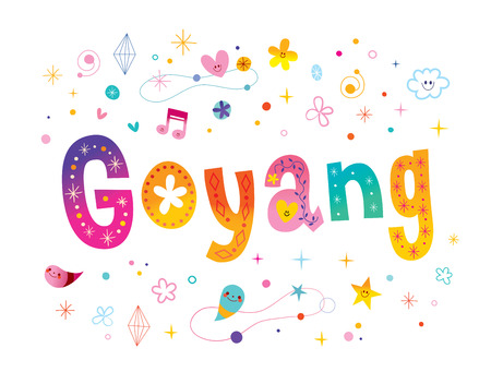 Goyang city in South Korea lettering design