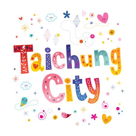 Taichung City unique lettering design Illustration