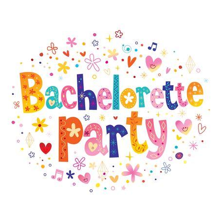Bachelorette party 向量圖像