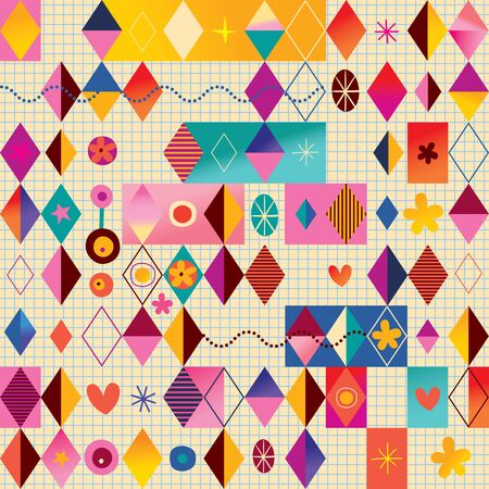 Retro style fun pattern