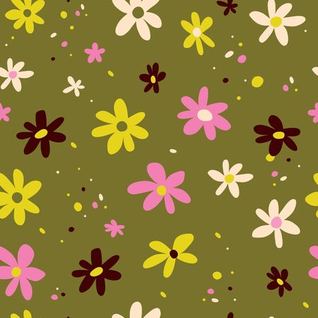 flowers nature seamless pattern