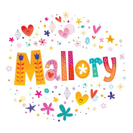 Mallory girls name decorative lettering type design