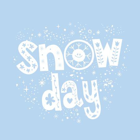 snow day Ilustracja