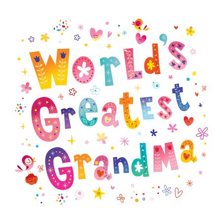 world's greatest grandma 일러스트