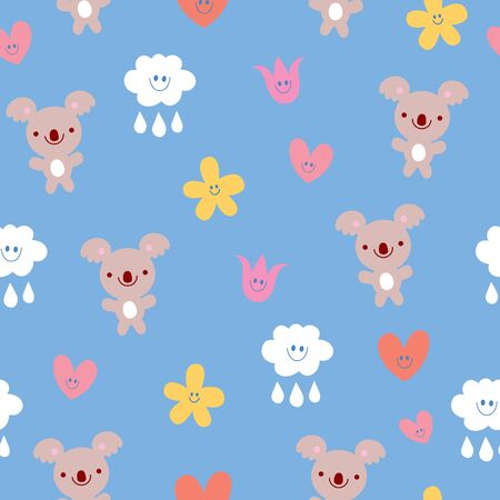 seamless pattern with koala bears