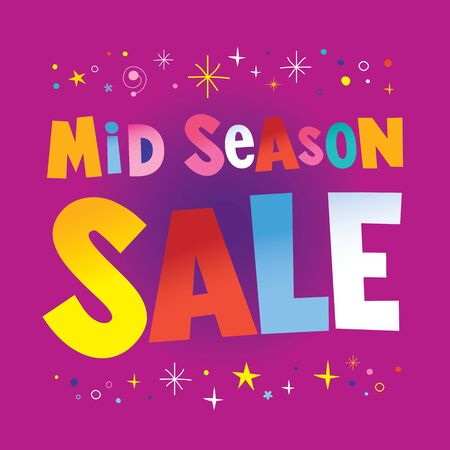 mid season sale 일러스트
