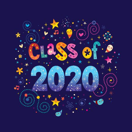 Abstract design of Class of 2020