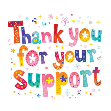 Thank you for your support Ilustracja