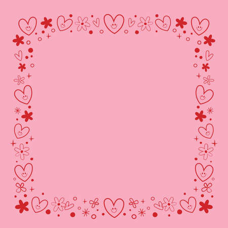frame border design with cute hearts and flowers Wow! Extremely impressive!