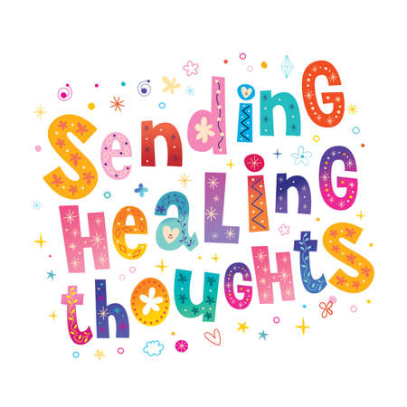 sending healing thoughts Ilustracja