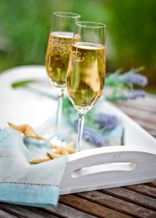 provencal: provencal champagne glasses