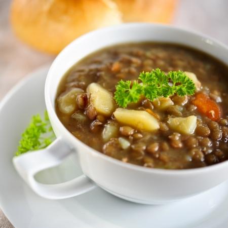 lenteja: sopa de lentejas marr�n